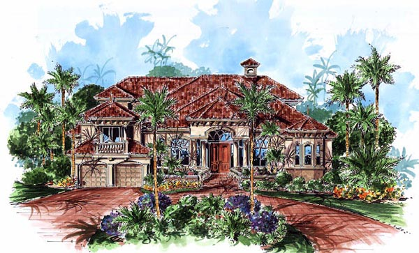 Florida Mediterranean House Plan 60456 Elevation
