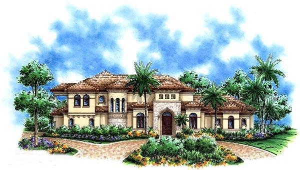Florida Mediterranean House Plan 60457 Elevation