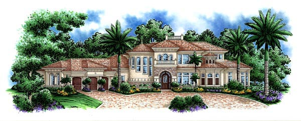 Florida Mediterranean House Plan 60472 Elevation