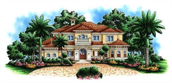 Florida Mediterranean House Plan 60475 Elevation