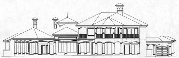 Florida Mediterranean House Plan 60478 Rear Elevation
