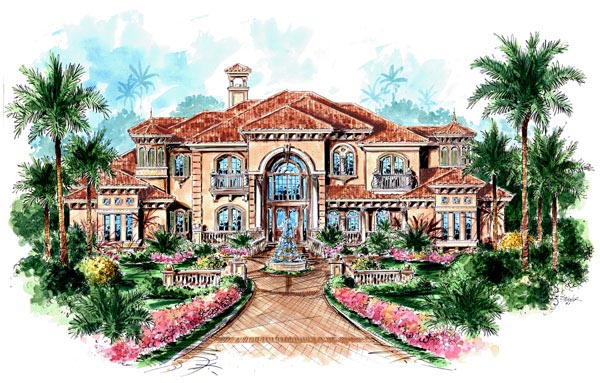 florida mediterranean house plan 60481 elevation - Mediterranean House Plans