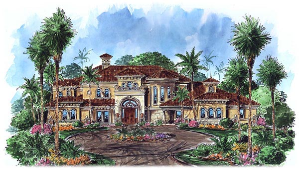 Florida Mediterranean House Plan 60487 Elevation