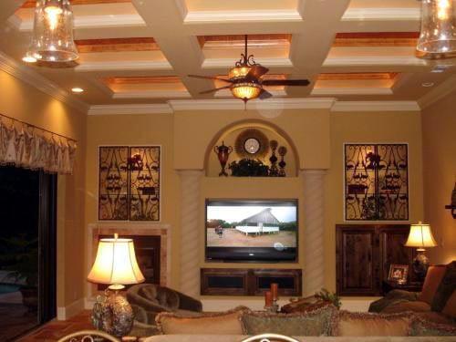 Florida, Mediterranean House Plan 60490 with 3 Beds, 3 Baths, 4 Car Garage Picture 10