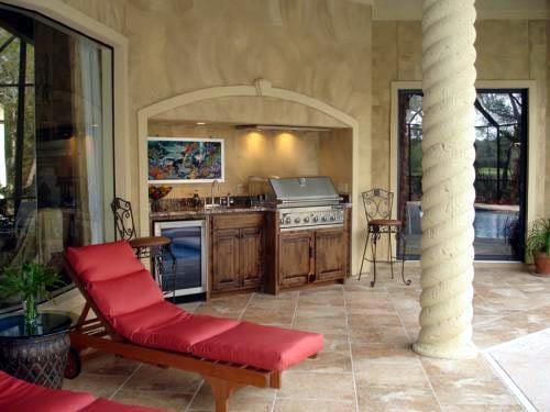 Florida, Mediterranean House Plan 60490 with 3 Beds, 3 Baths, 4 Car Garage Picture 4