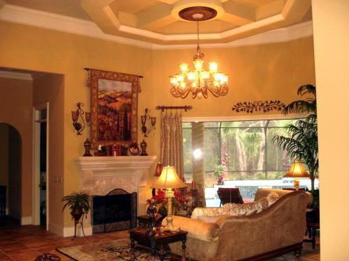 Florida, Mediterranean House Plan 60490 with 3 Beds, 3 Baths, 4 Car Garage Picture 9