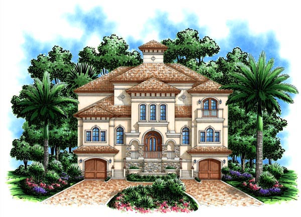 Florida Mediterranean House Plan 60491 Elevation