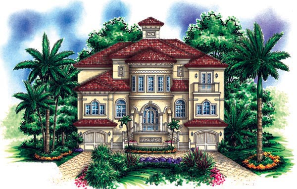 Florida Mediterranean House Plan 60492 Elevation