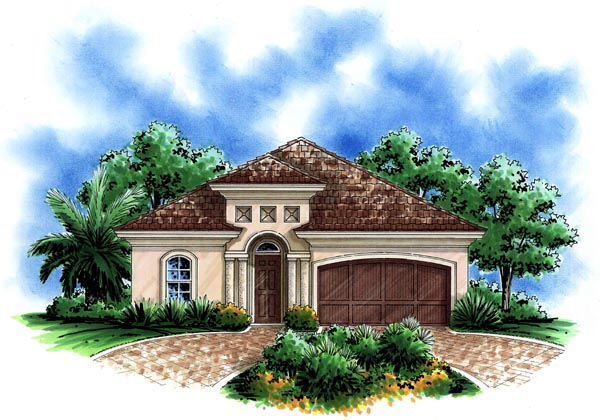 House plan 60495 for Mediterranean elevation