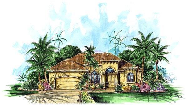 Florida Mediterranean House Plan 60503 Elevation