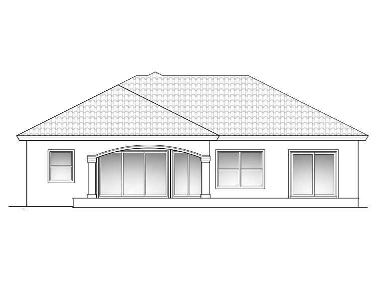 Florida Mediterranean House Plan 60503 Rear Elevation