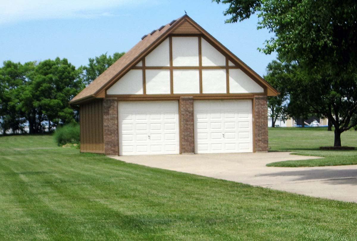 Traditional, Tudor 2 Car Garage Plan 60677 Elevation