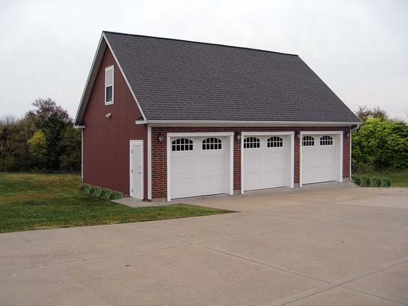 Cape Cod, Traditional 3 Car Garage Plan 60685 Elevation