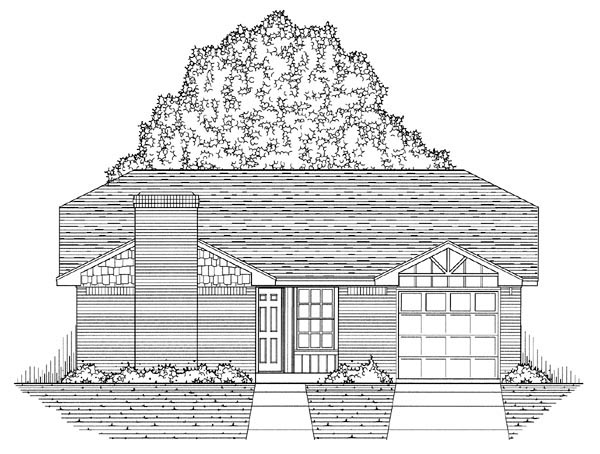 Country, Ranch, Traditional House Plan 60801 with 3 Beds, 2 Baths, 1 Car Garage Picture 4