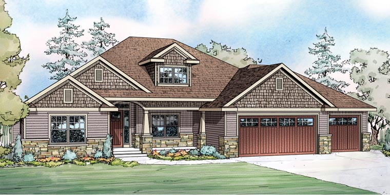 House plan 60901 at Contemporary country house plans