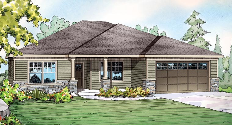 Contemporary Craftsman Ranch House Plan - Contemporary craftsman ranch house plan