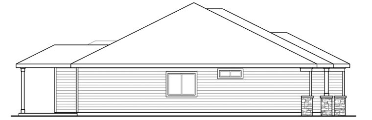 Craftsman Ranch House Plan - Contemporary craftsman ranch house plan