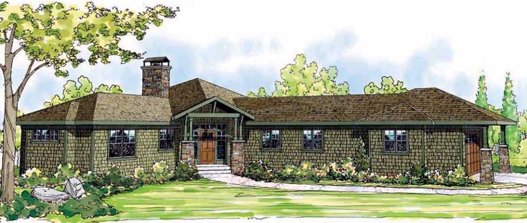 N Bungalow Elevation Plan Roof : House plan at familyhomeplans