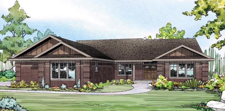 House plan 60917 at for Brick elevation design