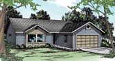 Plan Number 60920 - 1244 Square Feet