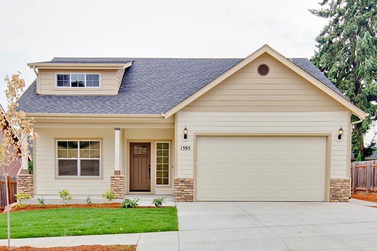 Bungalow contemporary craftsman ranch house plan 60922 for Cedar ridge storage