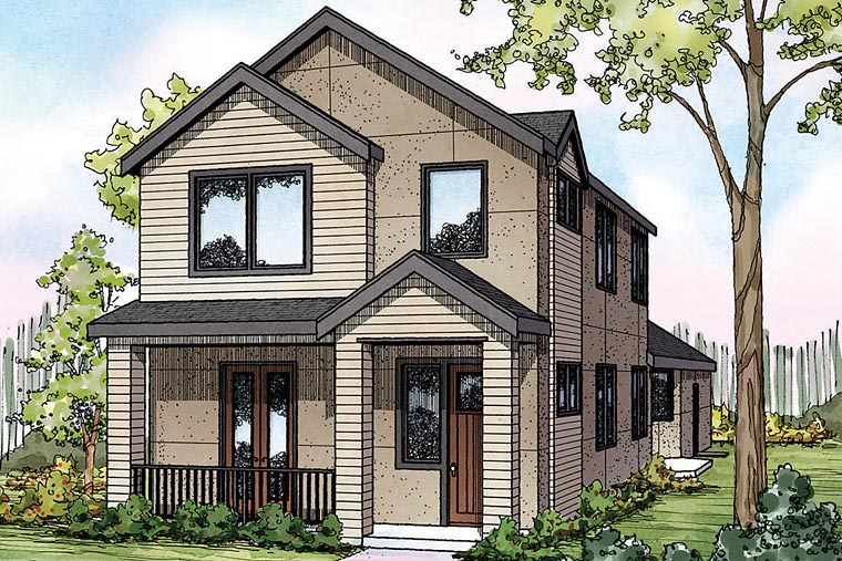 House plan 60927 at for House plans with great room in front