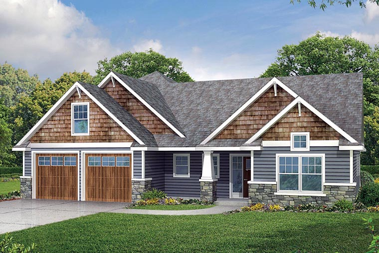 Craftsman Style House Plan 60942 With 2236 Sq Ft 3 Bed 2