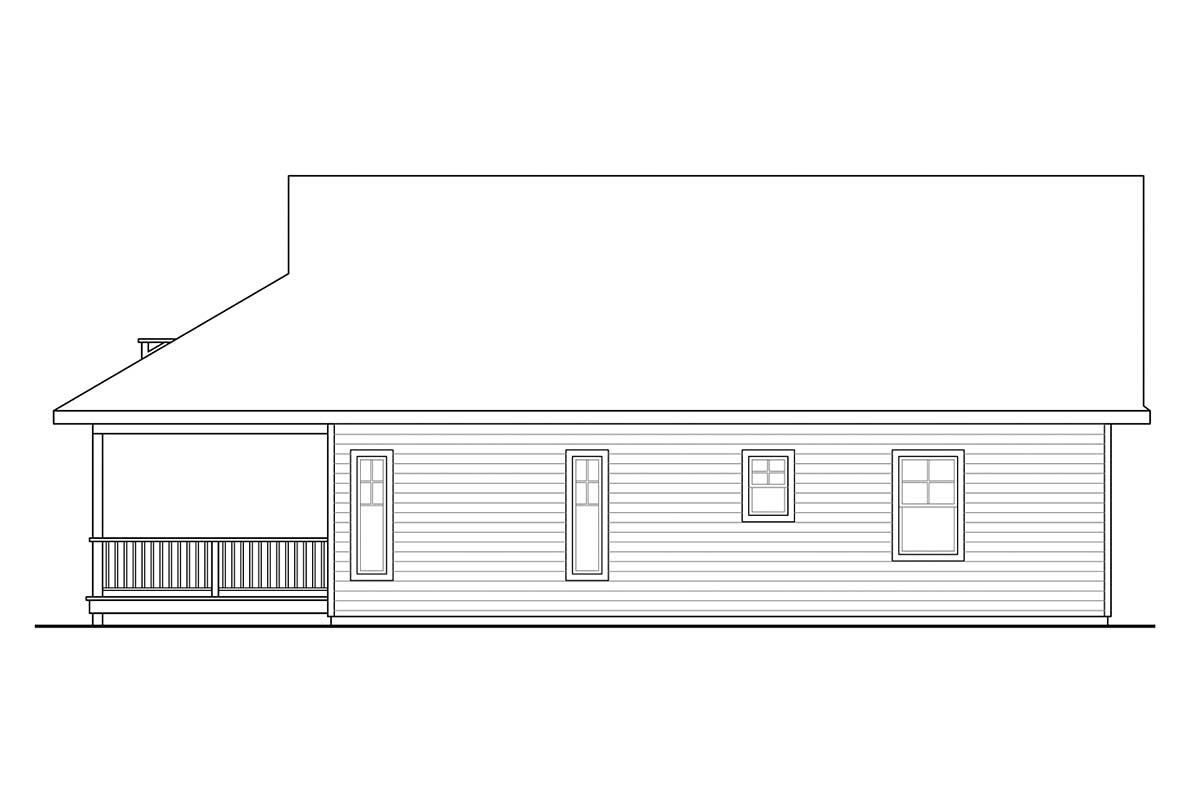 Cape Cod, Contemporary, Cottage, Country, Craftsman House Plan 60953 with 2 Beds, 2 Baths Picture 1