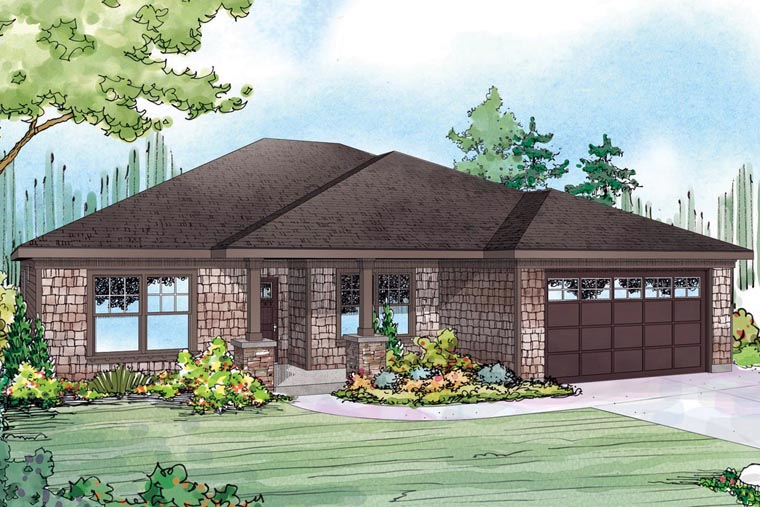 Cape Cod Cottage Ranch House Plan 60957 Elevation