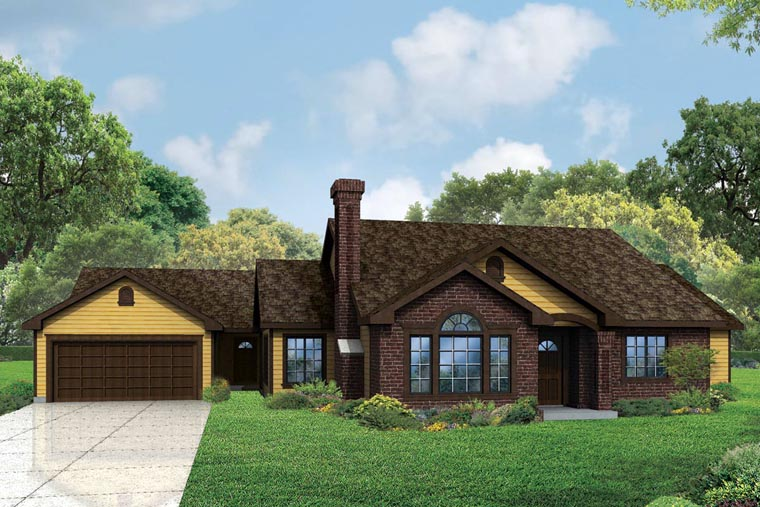 Cottage, Country, European, Traditional House Plan 60959 with 5 Beds, 3 Baths, 2 Car Garage Elevation