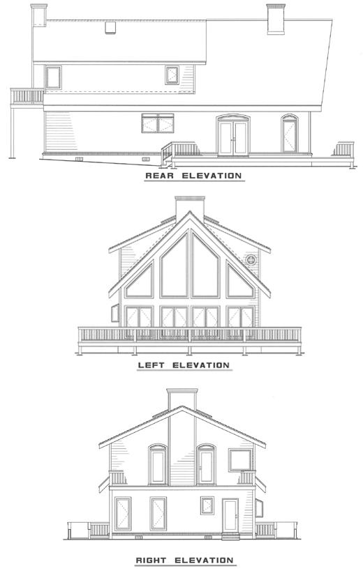Traditional House Plan 61006 Rear Elevation