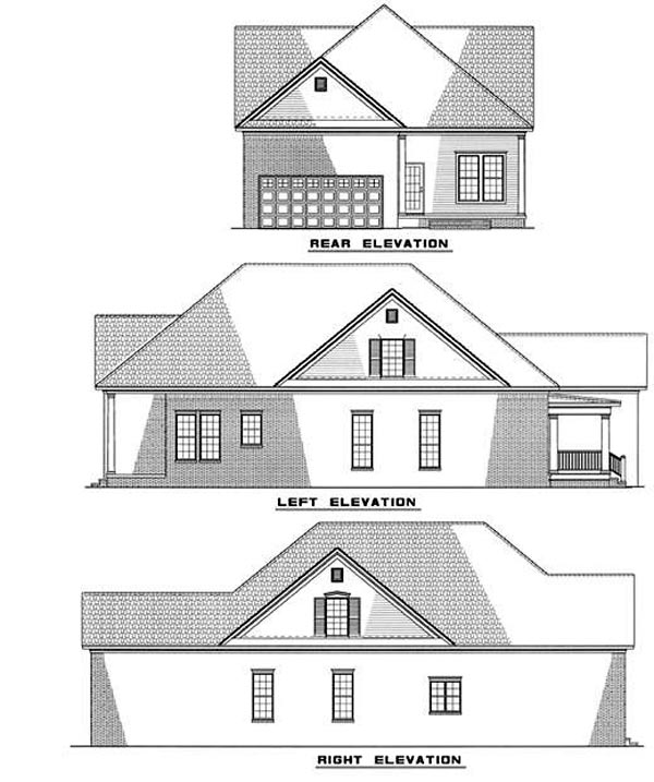 Colonial Country House Plan 61012 Rear Elevation