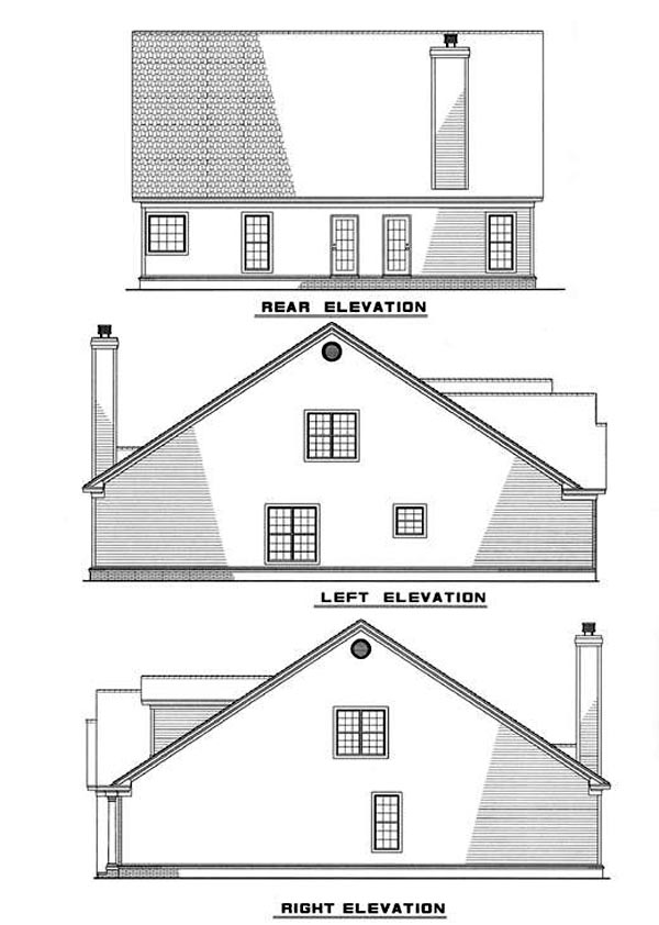 Traditional House Plan 61014 Rear Elevation