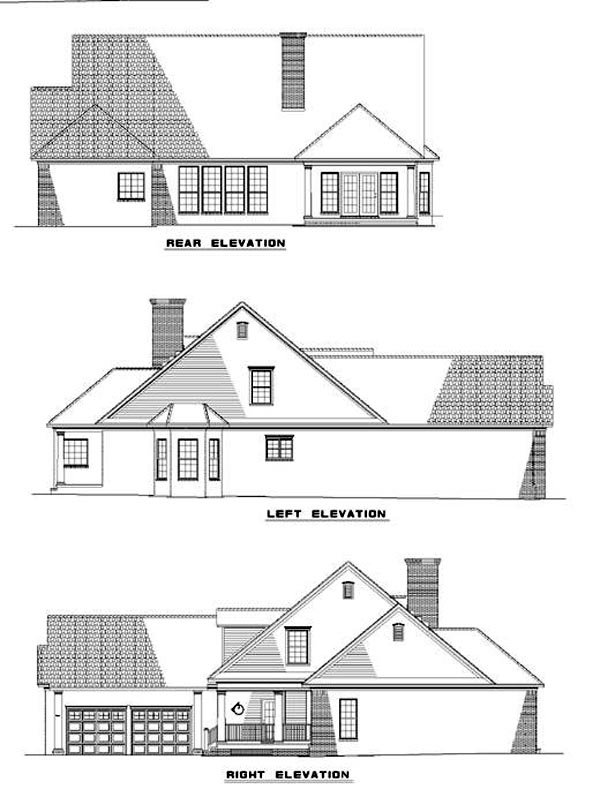 Country Southern House Plan 61016 Rear Elevation