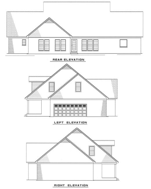Colonial Southern House Plan 61019 Rear Elevation