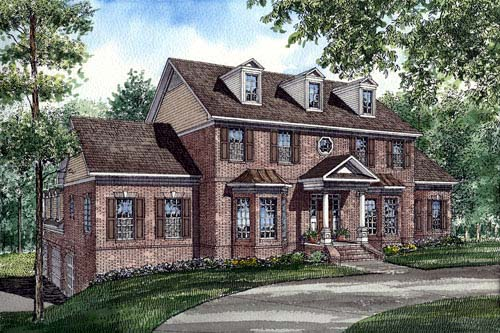 Colonial Southern House Plan 61025 Elevation