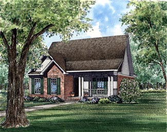Country Southern House Plan 61035 Elevation