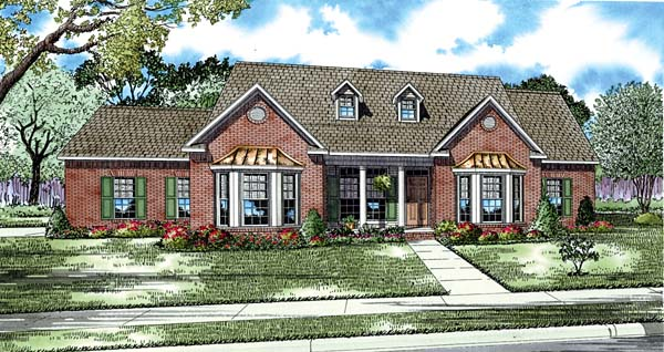 Traditional House Plan 61036 Elevation