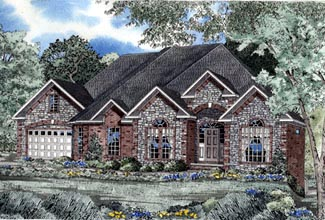 European House Plan 61037 Elevation