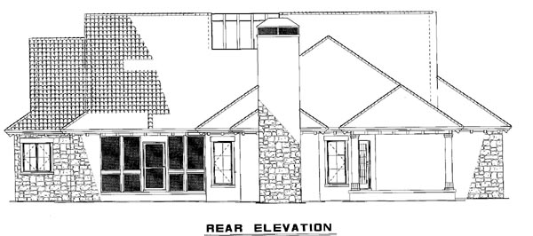 House Plan 61038 Rear Elevation