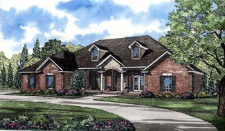 Southern Traditional House Plan 61047 Elevation