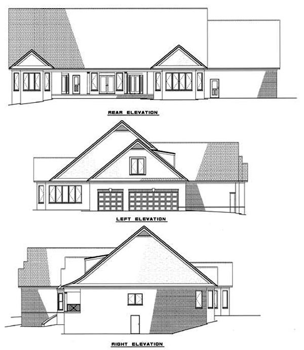 Country Southern House Plan 61049 Rear Elevation