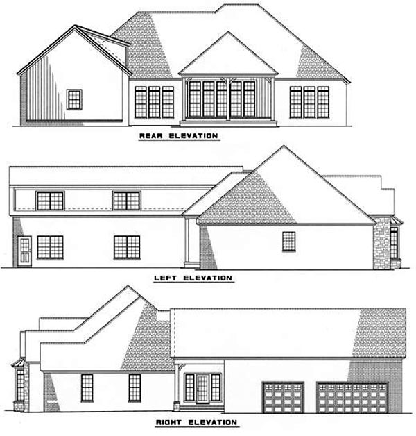 Traditional House Plan 61051 Rear Elevation