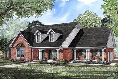 Country Southern House Plan 61052 Elevation