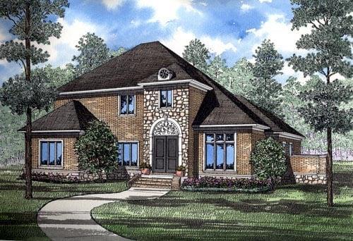 Contemporary European House Plan 61060 Elevation