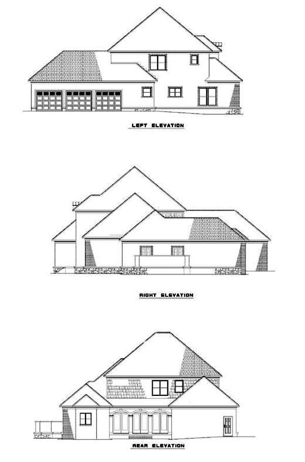 Contemporary European House Plan 61060 Rear Elevation
