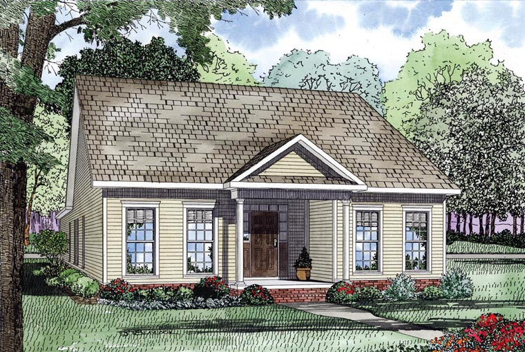 Colonial Southern House Plan 61064 Elevation