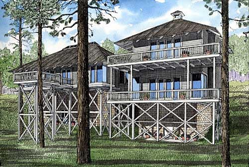 Country Southern House Plan 61066 Rear Elevation
