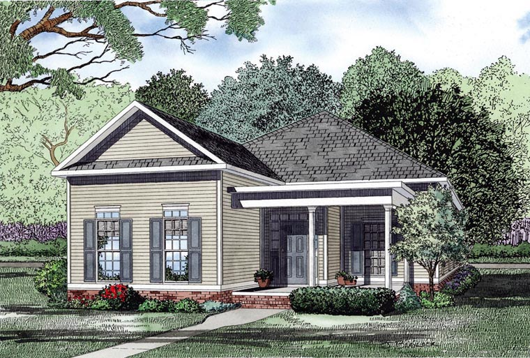 European Traditional House Plan 61069 Elevation