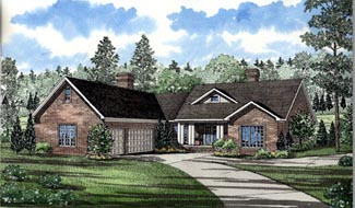 Traditional House Plan 61074 Elevation